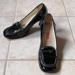 Miu Miu Patent Leather Loafer Heels 36